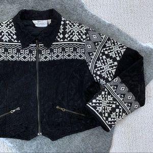 Vintage Women's Aztec Knit Crop Jacket